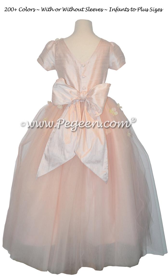 911 Ballet Pink Flower Girl Dress
