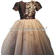 Medium Gray Tulle flower girl dresses for Jewish Wedding