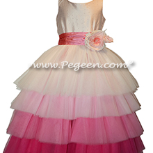 Pink sequins with pink ombre Jr Bridesmaids or Bat Mitvah dress - Style 932