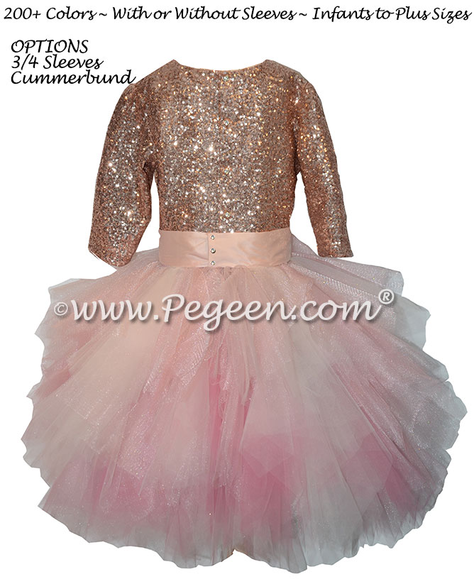 Rose gold Bat Mitzvah Dress