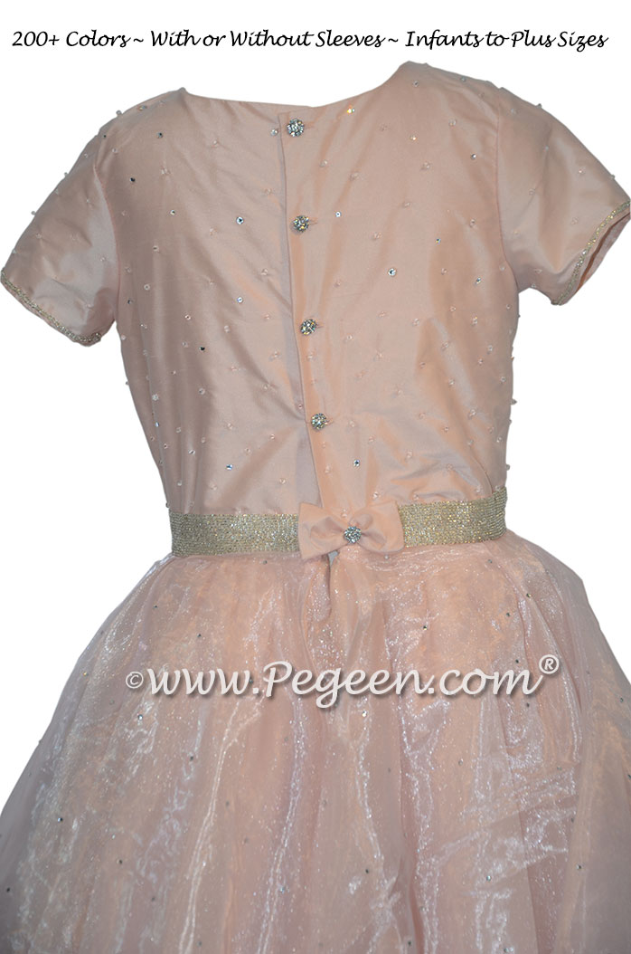 Swarovski Crystals and rhinestones Jr Bridesmaids dresses for Bat Mitzvah | Pegeen