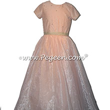 Swarovski Crystals and rhinestones Jr Bridesmaids dresses for Bat Mitzvah