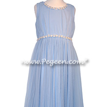 Ice Blue Jr Bridesmaids Dress for Tara Lipinski