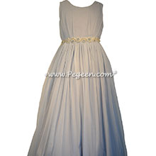 Jr Bridesmaids Dress with Netting in Grecian Style