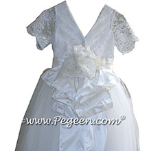 White silk couture style 1st Holy Communion dresses