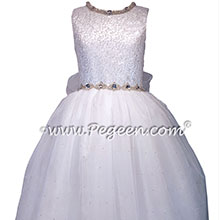 Sequinned Silk First Communion Dress