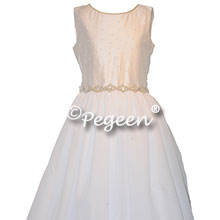 Antique White Crystal Bodice First Communion Dresses Style 998