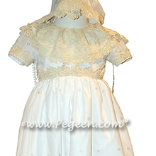 Antique Laces and Custom Embroidered Christening Gown