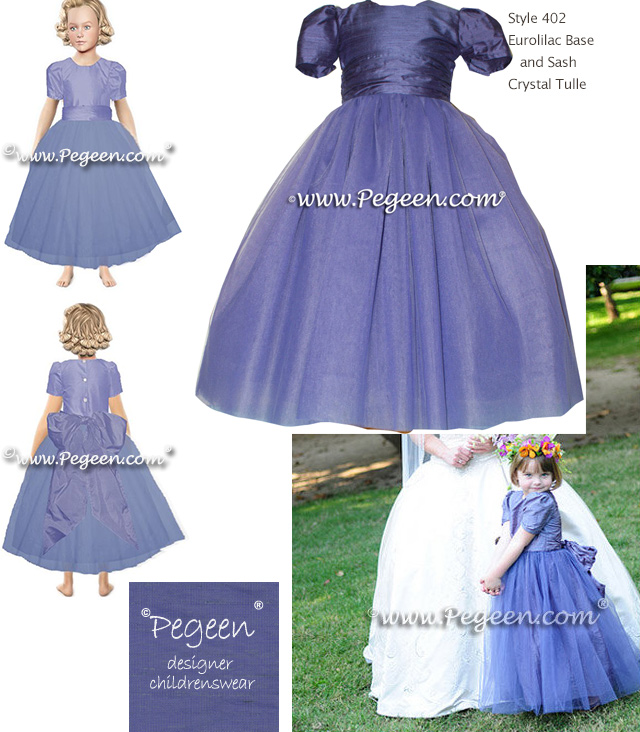 Flower girl dress Style 356 was used for a beautiful European Styled Wedding