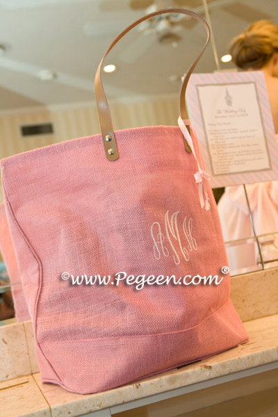 petal pink ring bearer outfit - canvas bags for bridesmaids girls