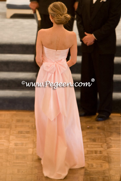 petal pink dress with her father