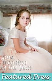 Featured flower girl dress by Pegeen from our Fairy Tale Collection