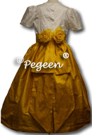 MUSTARD flower girl dresses