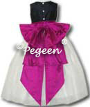 Black, Flamingo Pink flower girl Dresses