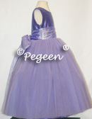 Violet purple tulle flower girl dresses