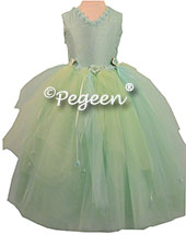 Aqualine, mint and tiffany blue Nutcracker Dress or Flower Girl Dress Style 406 by Pegeen Couture
