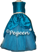 Mosaic teal or blue Custom Tulle PARTY NUTCRACKER DRESS OR flower girl dresses