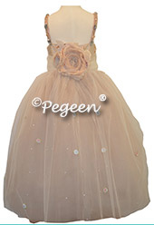 Topaz Silk with Crystals - Our Topaz Fairy Flower Girl Dresses