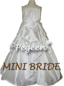 Mini-Bride Silk flower girl dress