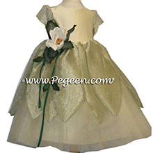 BABY CHICK FROG PRINCESS ballerina style Flower Girl Dresses with layers of tulle