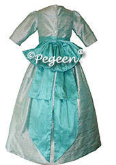 FLOWER GIRL DRESSES in Paradise Teal and Seaside Aqua