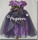 Purple infant tulle flower girl dresses