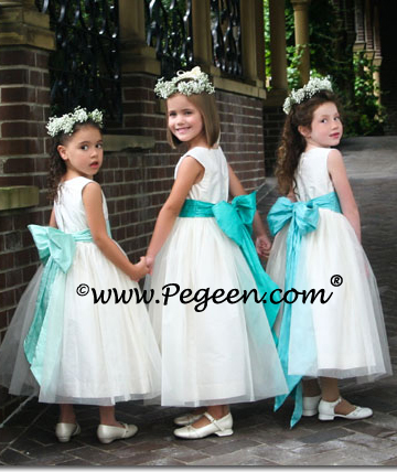 2010 Tiffany Blue Flower Girl Dresses of the Year DIY Wedding