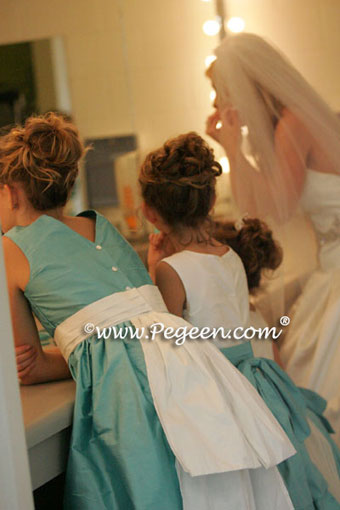 Jr. Bridesmaids dress in the church