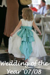 Flower Girl Dresses of the Year in Tiffany Blue and Ivory