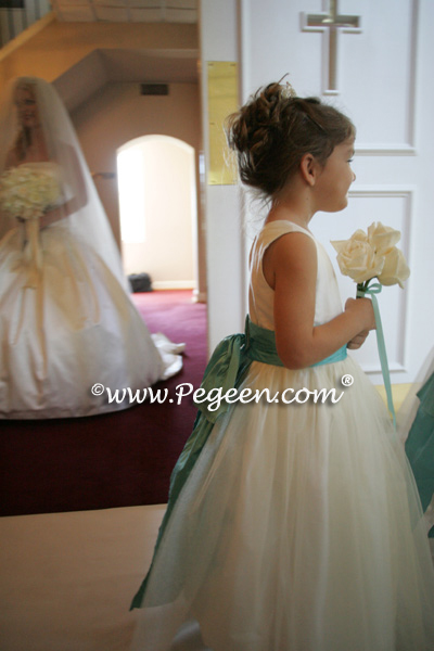Wedding Of The Year Flower Girl Dresses Tiffany Blue