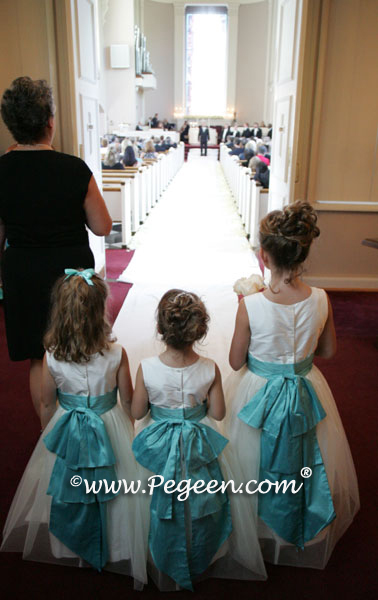 cinderella Tiffany Blue flower girl dresses