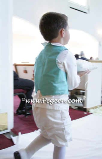 tiffany blue and ivory ring bearer with tiffany vest