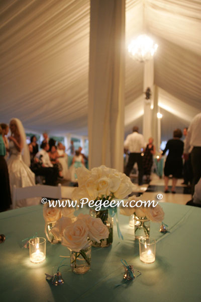 Tiffany Blue theme wedding and flowers
