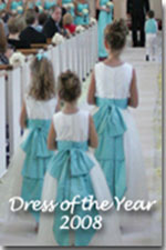2008 Flower Girl Dresses of the Year in Tiffany Blue and New Ivory