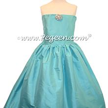 Tiffany Blue junior bridesmaids dress