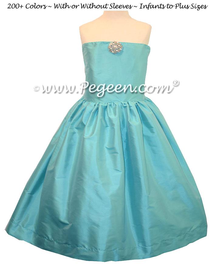 Tiffany Blue Jr Bridesmaids Dress - Style 306