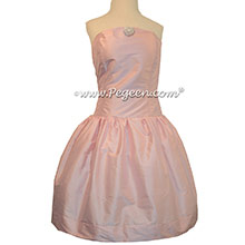 Bubblegum Pink junior bridesmaids dress