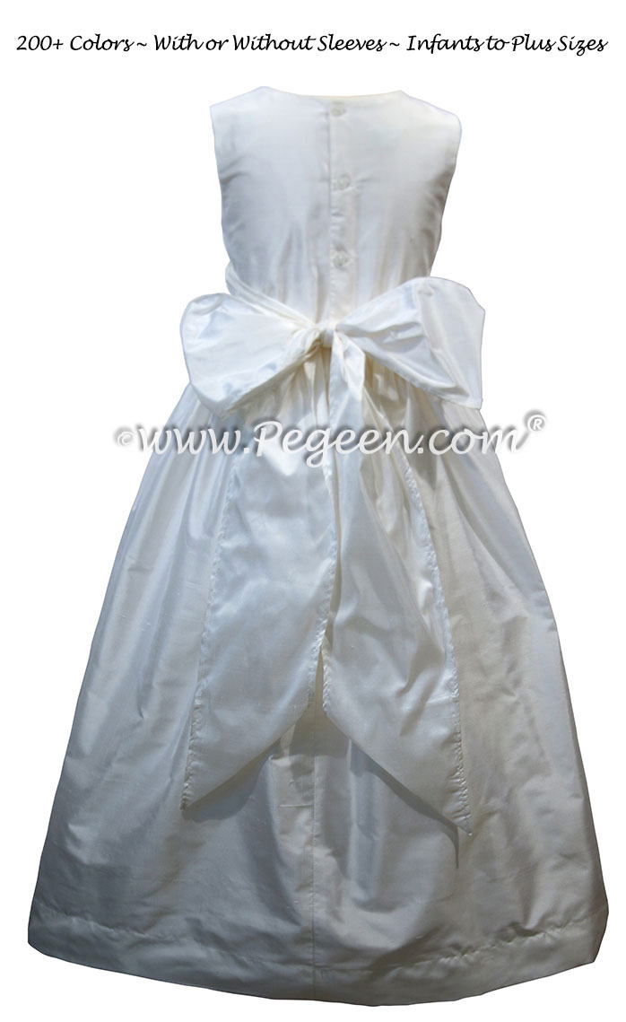 Classic Style Antique White First Communion Dress Style 318