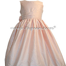 Ballet Pink Silk Flower Girl Dresses style 318 by Pegeen