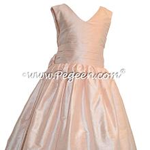 Ballet Pink Silk Flower Girl Dresses style 318 by Pegeen