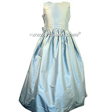 Powder Blue Silk Flower Girl Dresses style 318 by Pegeen