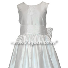 Antique White First Communion Dress Style 318 Monogrammed