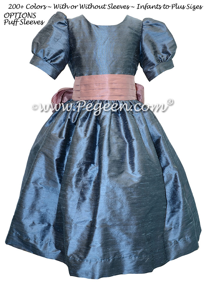Arial Blue and Rum Pink flower girl dress used for Clara's Nutcracker Party Scene