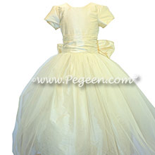 NEW IVORY  tulle flower girl dresses