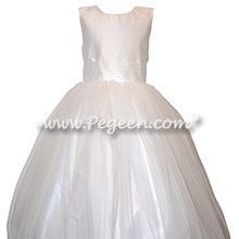 Antique White Flower Girl Dress Style 356