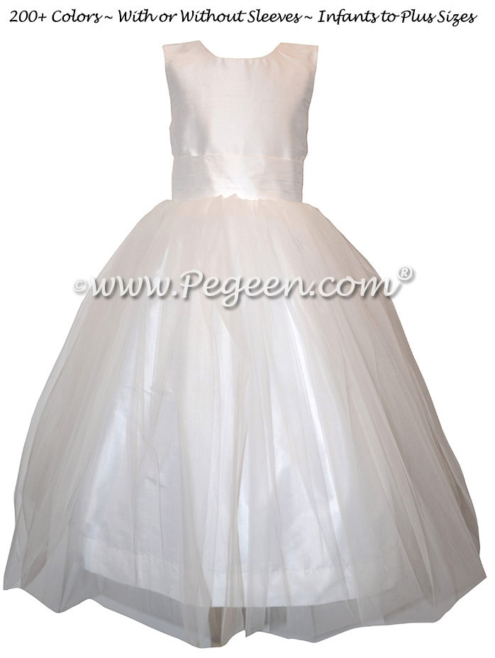 Antique White First Communion Dress Style 356