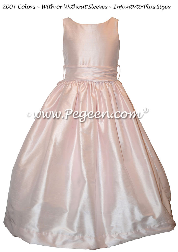 Peony Pink for Jr. Bridesmaids Dress in Classic Style 388