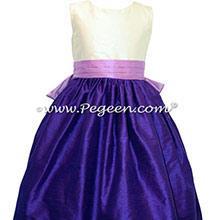 ROYAL PURPLE AND AMETHYST FLOWER GIRL DRESSES