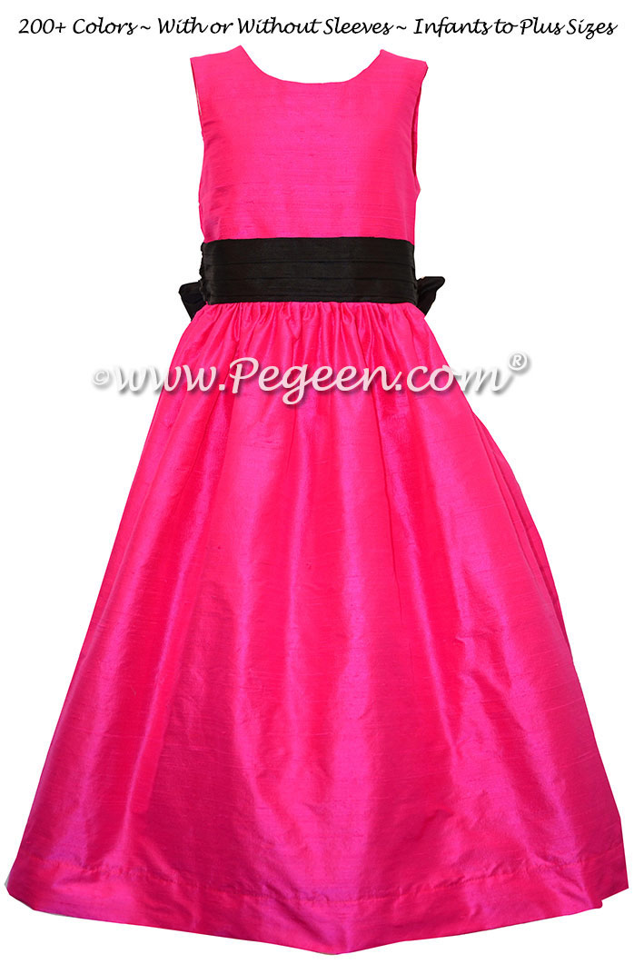 Flower Girl Dress Boing and Black Silk Style 398 | Pegeen