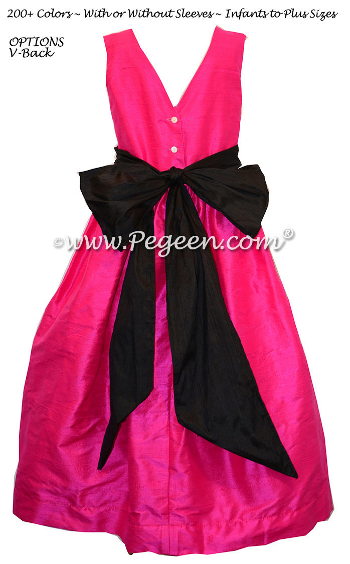 Flower Girl Dress Boing and Black Style 398 | Pegeen